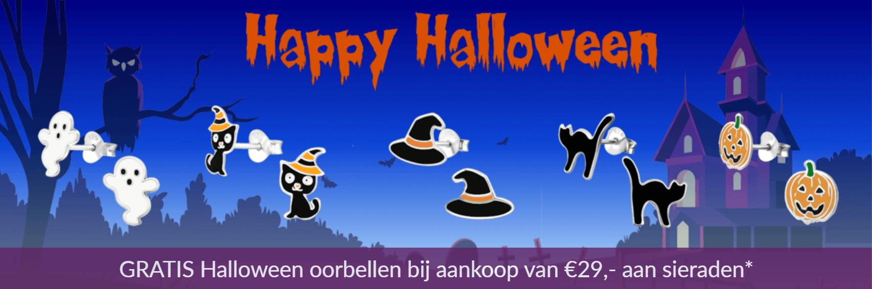 Halloween actie - gratis zilveren oorbellen
