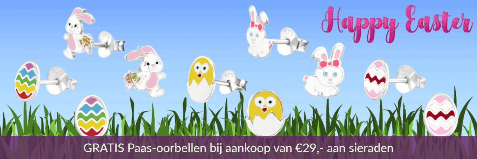 GRATIS paas oorbellen bij aankoop van €29,- aan kindersieraden