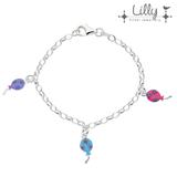 Lilly 104.1986 - zilveren kinder bedelarmband ballonnen