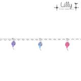 Lilly 104.1986 - zilveren kinder bedelarmband ballon