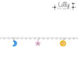 Lilly 104.1985 - zilveren kinder bedelarmband ster