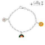 Lilly 104.1984 - zilveren kinder bedelarmband zon