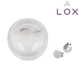 LOX oorbellen achterkantje