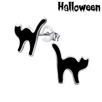 Oorbellen zwarte kat