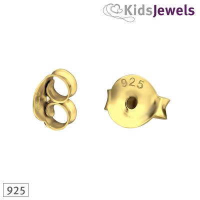 Achterkantjes zilver - goud verguld