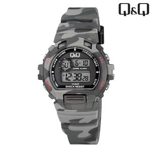 Q&Q - M153J009 kinderhorloge camouflage antraciet