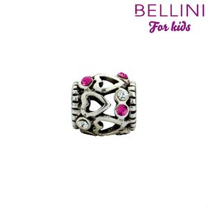Bellini 564.400 - zilveren bedel met zirkonia's roze/wit