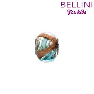 Bellini 561.517 - glasbedel glitter oranje/blauw