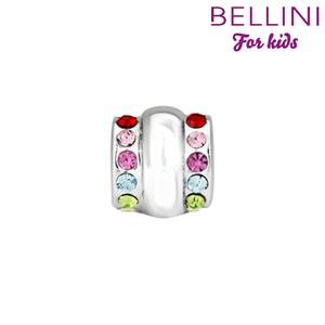 Bellini 564.407 - zilveren bedel met zirkonia's gekleurd