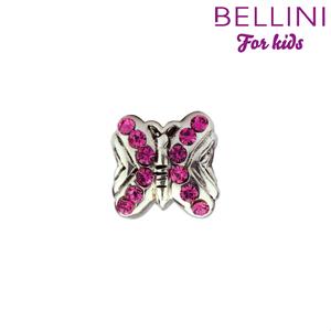 Bellini 564.405 Zilveren bedel vlinder met roze zirkonia