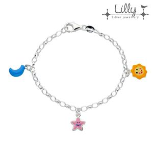 Lilly 104.1985 - zilveren kinder bedelarmband zon