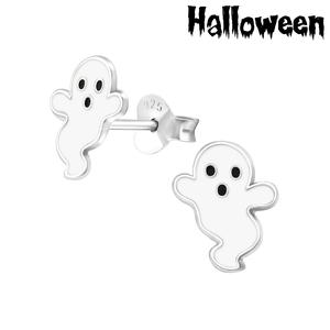 Halloween - zilveren oorbellen spookje