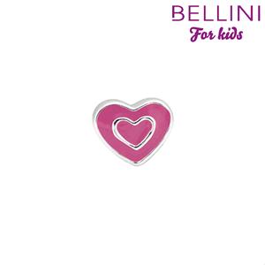 Bellini 567.416 - zilveren bedel hartje emaille