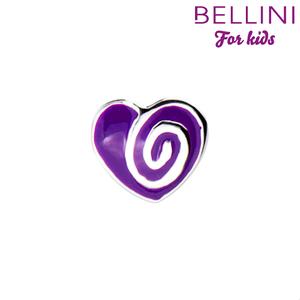 Bellini 567.405 - zilveren bedel hartje emaille