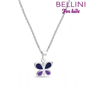 Bellini 574.002 - zilveren kinder collier met hanger vlinder