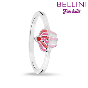 Bellini 579.010 - Zilveren Bellini ring met gekleurde emaille cupcake