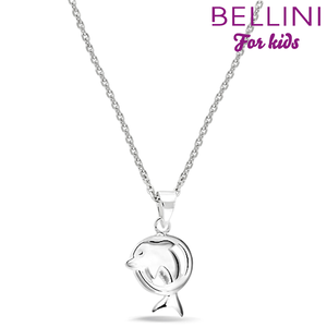 Bellini 574.013 - zilveren kinder collier met hanger dolfijn