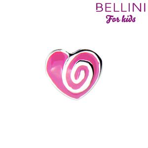 Bellini 567.404 - zilveren bedel hartje emaille
