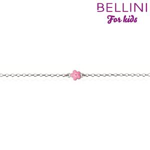 Bellini 573.007 - Zilveren Bellini armband met roze bloem