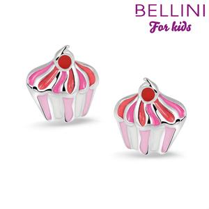 Bellini 575.010 - zilveren kinder oorbellen cupcake
