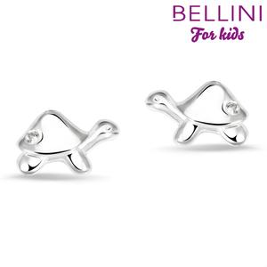Bellini 575.018 - zilveren kinder oorbellen schildpad