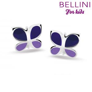 Bellini 575.002 - zilveren kinder oorbellen vlinder
