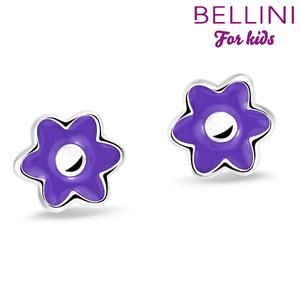Bellini 575.017 - zilveren kinder oorbellen bloem