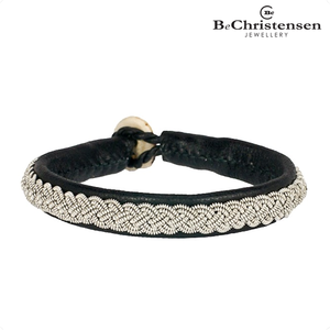 BeChristensen Celtic black 12 - zwart leren kinder armband