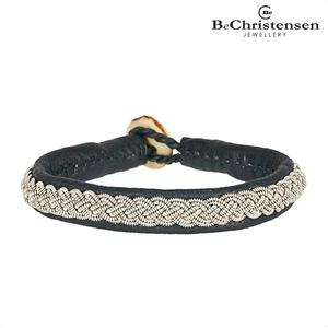 BeChristensen Celtic grey 21 - grijze leren kinder armband