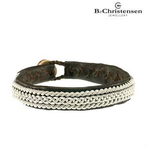 BeChristensen Sama brown 9 - bruine leren kinder armband