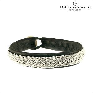 BeChristensen Silla black 12 - zwart leren kinder armband