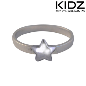 Charmin's KR38 - Zilveren Charmin*s kinderring met ster