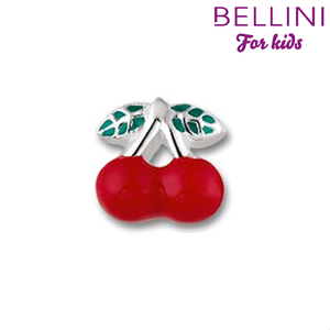 Bellini 567.401 - zilveren bedel kersen emaille