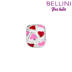 Bellini 567.409 - zilveren bedel hartjes emaille