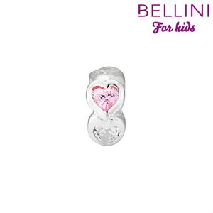 Bellini 564.408 hartjes met witte en roze hartvormige zirkonia