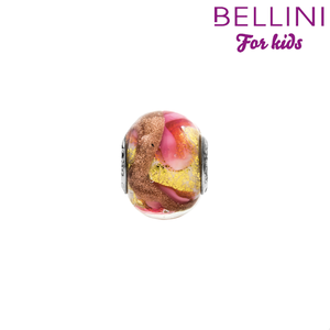 Bellini 561.516 -  Bellini glasbedel met glitter oranje/roze