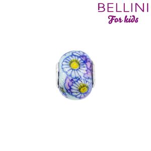 Bellini 561.504 - glasbedel blauw met bloem