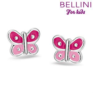Bellini 575.011 - zilveren kinder oorbellen vlinder