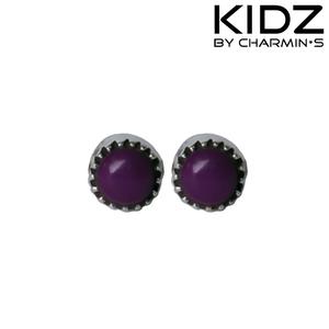 Charmin's E04 - Zilveren kinderoorbellen met paarse amethist