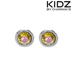 Charmin's E10 - Zilveren kinderoorbellen met regenboog zirkonia