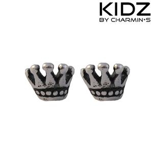 Charmin's E39 - Zilveren kinderoorbellen met kroon