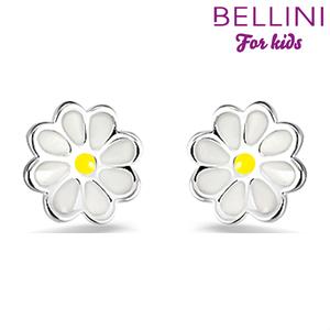 Bellini 575.012 - zilveren kinder oorbellen bloem