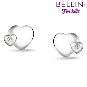 Bellini 575.021 - zilveren kinder oorbellen hartje