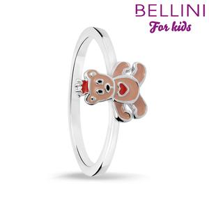 Bellini 579.006 - Zilveren Bellini ring met gekleurd emaille beertje