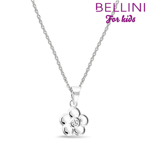 Bellini 574.014 - zilveren kinder collier met hanger bloem
