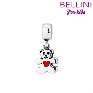 Bellini 568.402 - Zilveren Bellini bedel hangend beer met hartje