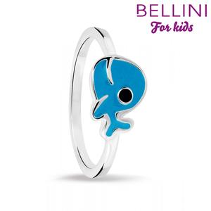 Bellini 579.001 - Zilveren kinderring walvis