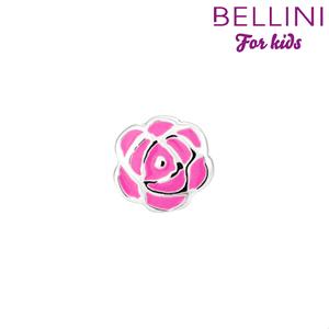 Bellini 567.411 - zilveren bedel roos emaille